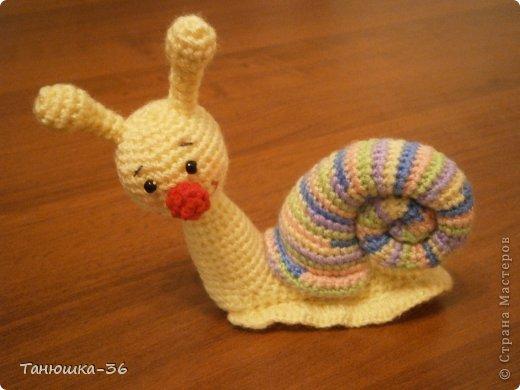 Игрушка Вязание крючком Улитка