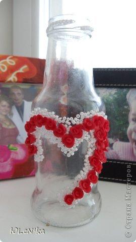 Декор предметов Лепка Мини-ваза Бисер Клей Пластика фото 1.