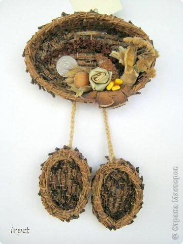 Работы выполнены в технике плетение сосновой иглой, как это делается - рассказать не могу, т.к. секрет))) Приятного просмотра!!! фото 22