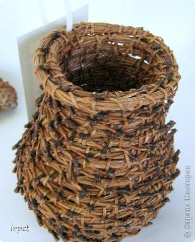 Работы выполнены в технике плетение сосновой иглой, как это делается - рассказать не могу, т.к. секрет))) Приятного просмотра!!! фото 37