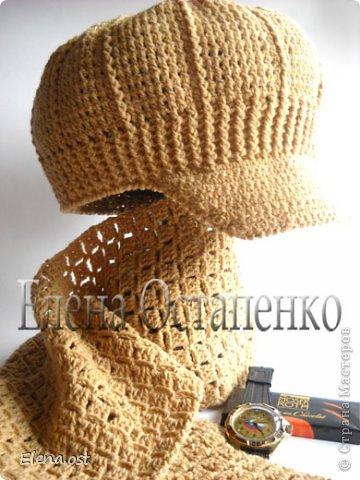 Вязание крючком Кепка+шарф