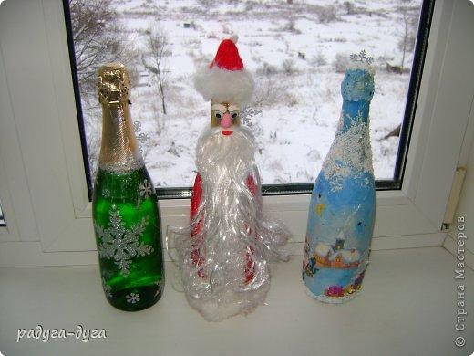 Такие бутылочки я делала на прошлый Новый год друзьям в подарок. фото 1