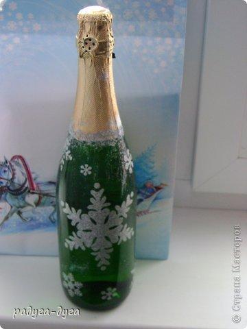 Такие бутылочки я делала на прошлый Новый год друзьям в подарок. фото 3