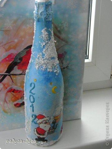 Такие бутылочки я делала на прошлый Новый год друзьям в подарок. фото 6