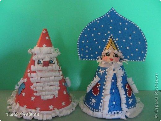 Дед мороз на конусе своими руками