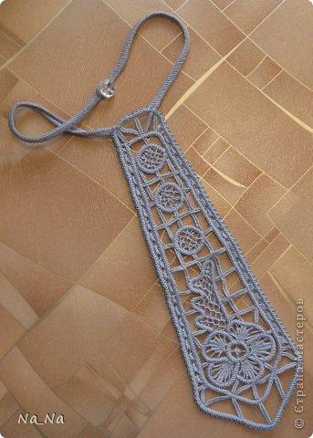 Вязание крючком Галстук