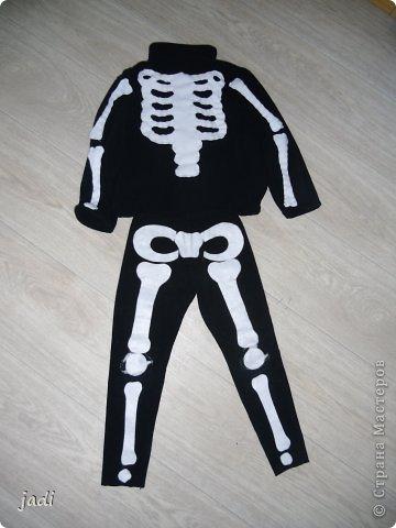 Костюм скелет своими руками 1162