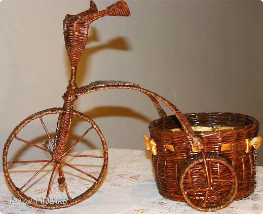 Рада всех приветствовать на моей страничке! До сей поры была равнодушна к плетёнкам, коих на сайте огромное количество, велосипедов тоже не счесть. фото 2