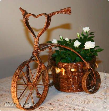 Рада всех приветствовать на моей страничке! До сей поры была равнодушна к плетёнкам, коих на сайте огромное количество, велосипедов тоже не счесть. фото 1