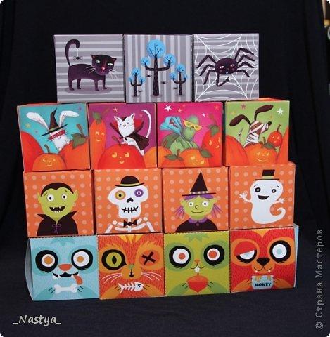 Вот и прошел Хеллоуин. Мое дите теперь ждет следующего :)) Вот такие коробочки с конфетами мы носили в школу - одноклассникам и учителям :)