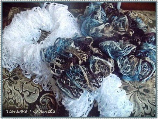 Оказывается эти шарфики, связанные из ленточной пряжи называются французские!!!! фото 2