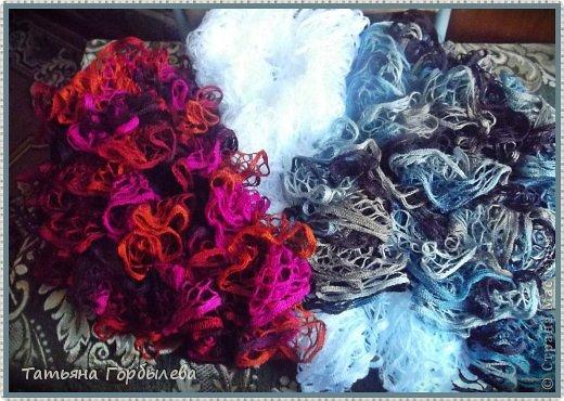 Оказывается эти шарфики, связанные из ленточной пряжи называются французские!!!! фото 1