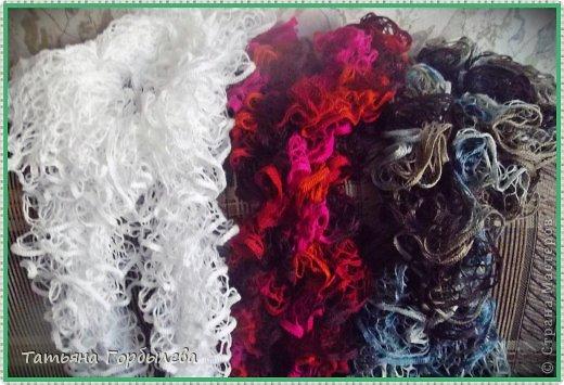 Оказывается эти шарфики, связанные из ленточной пряжи называются французские!!!! фото 5