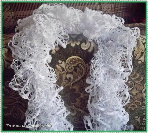Оказывается эти шарфики, связанные из ленточной пряжи называются французские!!!! фото 3