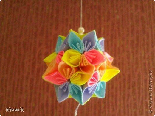 Кусудамы цветочные фото 3