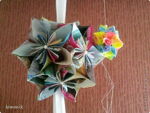 Кусудамы цветочные фото 1