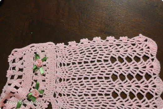 Гардероб Мастер-класс Вязание крючком розовая кофточка- мечта Нитки фото 13