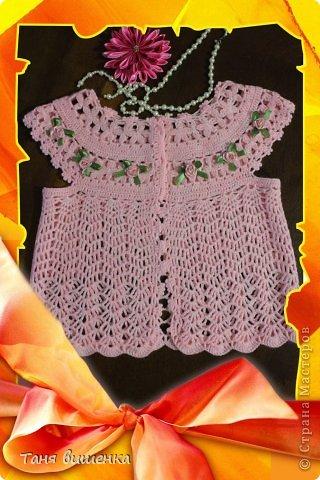 Гардероб Мастер-класс Вязание крючком розовая кофточка- мечта Нитки фото 2
