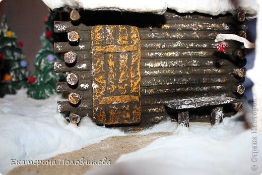 Мастер-класс Поделка изделие Новый год Рождество Бисероплетение Папье-маше Печать губкой Роспись Поделка в детский сад Бисер Бумага Вата Гуашь Картон Клей Коробки Материал природный Пластилин фото 17
