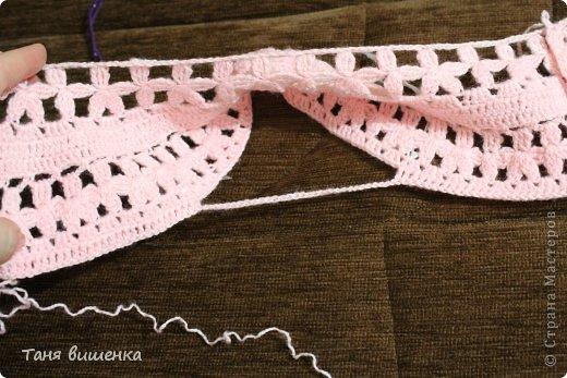 Гардероб Мастер-класс Вязание крючком розовая кофточка- мечта Нитки фото 9