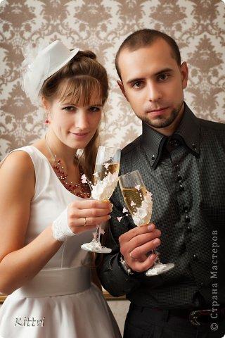 """Свадебные бокалы """"Флоранс"""" фото 7"""