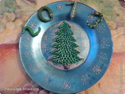 Новогодняя тарелка фото 1