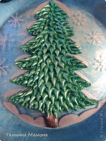 Новогодняя тарелка фото 2