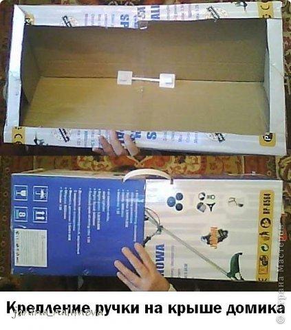 Мастер-класс Макет модель КУКОЛЬНЫЙ ДОМИК из картона МК Бумага Карандаш Картон Клей Коробки фото 8.
