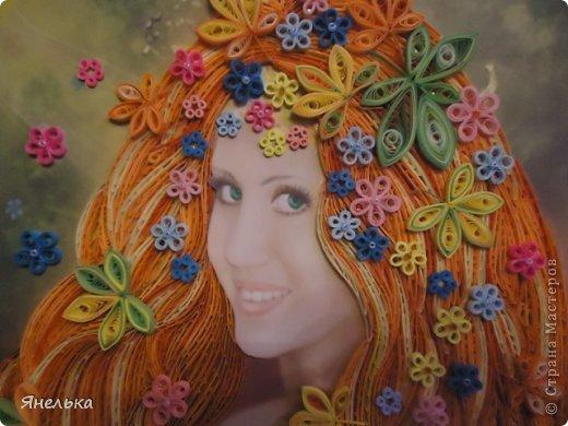 Всем доброго времени суток! Думаю многим знакома эта работа Алены Лазаревой, меня же она просто очаровала и я решила воплотить её в квиллинге. Вот, что у меня получилось фото 7