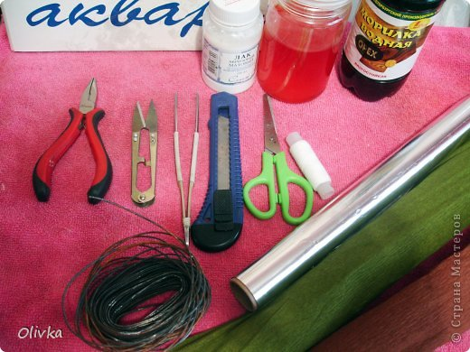 Декор предметов Мастер-класс Флористика искусственная Бумагопластика Плетение Ветвь из цветов Мастер класс по изготовлению Бумага фото 2