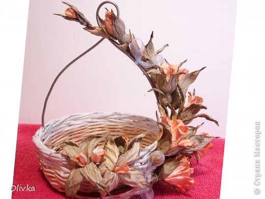 Декор предметов Мастер-класс Флористика искусственная Бумагопластика Плетение Ветвь из цветов Мастер класс по изготовлению Бумага фото 1