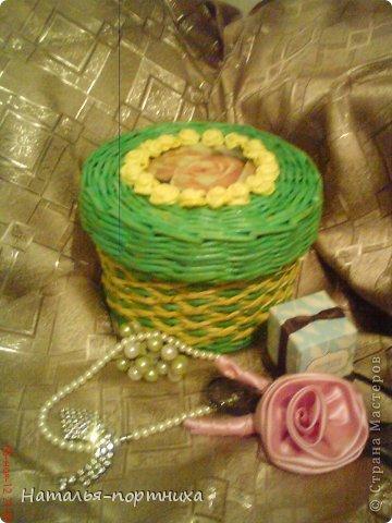 Плетение - Шкатулка на День Рождения.