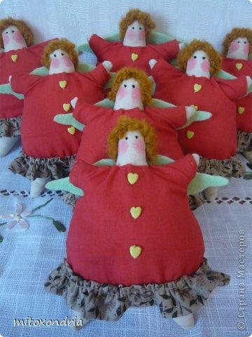 Завершаю ударными темпами тильдоподготовку к новому году:) Пошилась партия ангелочков-ёлочных украшений для моих коллег. фото 2