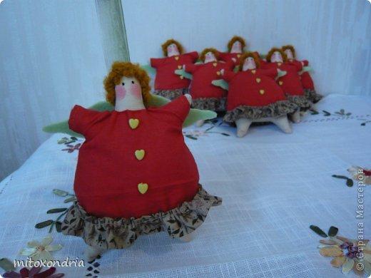 Завершаю ударными темпами тильдоподготовку к новому году:) Пошилась партия ангелочков-ёлочных украшений для моих коллег. фото 4