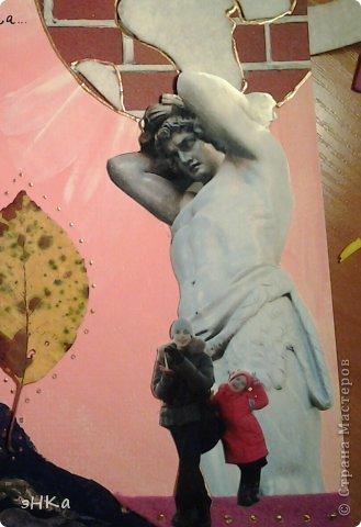 """Задание N1. Кленовые листья, акварель, фото, обои, цв. бумага, акриловый контур, фетр. Название """" К. И. Чуковский. Айболит"""" фото 17"""