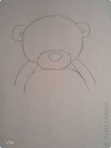 Приветик всем:) Сегодня я расскажу как красиво и правильно нарисовать мишку тедди.А так же как правильно его разукрасить.Возьмите только бумагу,карандаш и ластик.Начинаем рисовать... фото 3
