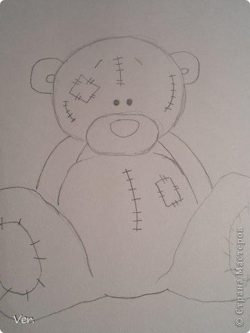 Приветик всем:) Сегодня я расскажу как красиво и правильно нарисовать мишку тедди.А так же как правильно его разукрасить.Возьмите только бумагу,карандаш и ластик.Начинаем рисовать... фото 5