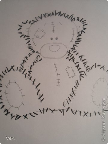 Приветик всем:) Сегодня я расскажу как красиво и правильно нарисовать мишку тедди.А так же как правильно его разукрасить.Возьмите только бумагу,карандаш и ластик.Начинаем рисовать... фото 9