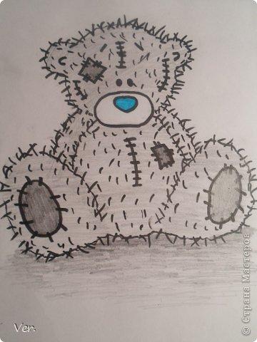 Приветик всем:) Сегодня я расскажу как красиво и правильно нарисовать мишку тедди.А так же как правильно его разукрасить.Возьмите только бумагу,карандаш и ластик.Начинаем рисовать... фото 17