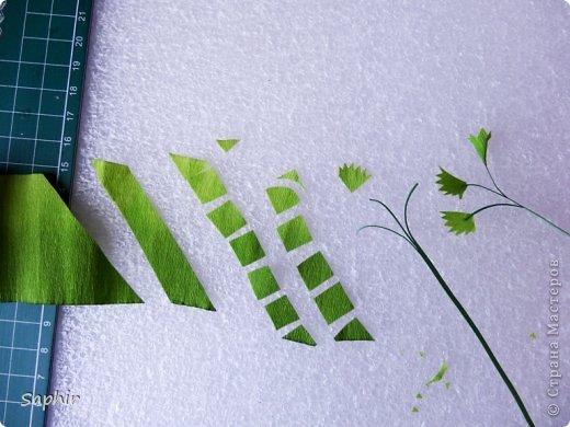 Маленькие цветочки из  бумаги Кристал.  фото 3