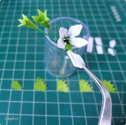 Маленькие цветочки из  бумаги Кристал.  фото 9