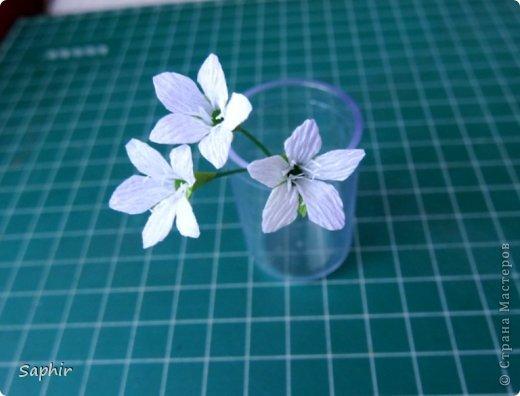 Маленькие цветочки из  бумаги Кристал.  фото 11