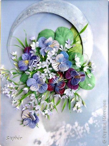 Маленькие цветочки из  бумаги Кристал.  фото 14