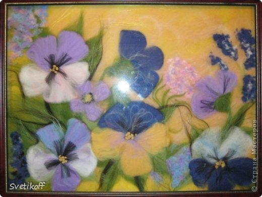 Вот такая получилась моя первая шерстяная картина. Цвета немного искажены. На самом деле она ярче. фото 3