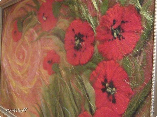 Вот такая получилась моя первая шерстяная картина. Цвета немного искажены. На самом деле она ярче. фото 6