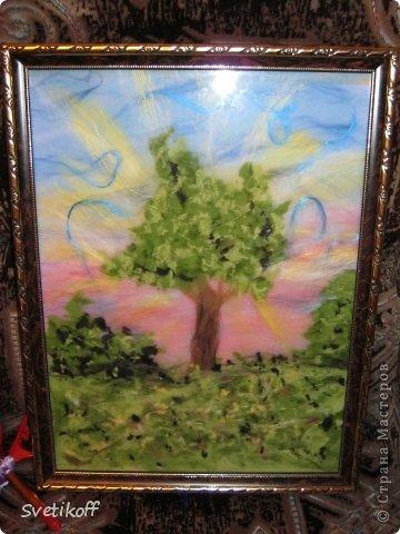 Вот такая получилась моя первая шерстяная картина. Цвета немного искажены. На самом деле она ярче. фото 8