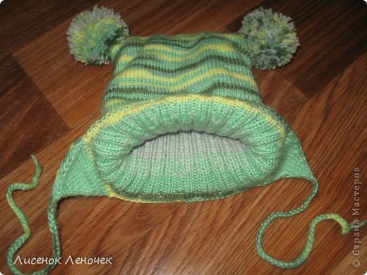 Гардероб Мастер-класс Вязание спицами Шапочка для мальчика Пряжа фото 2