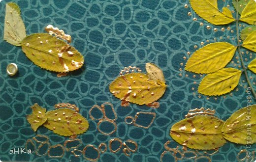 """Задание N1. Кленовые листья, акварель, фото, обои, цв. бумага, акриловый контур, фетр. Название """" К. И. Чуковский. Айболит"""" фото 21"""