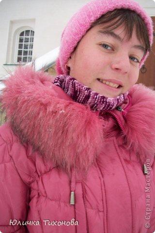 Вот и зима наступает!!... И я к своему пуховику и шапочке решила связать бактус...