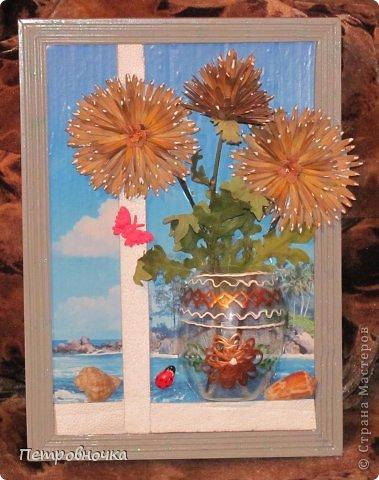 Этот сюжет мне то же приснился. Цветы из летучек ясеня, а  серединка семеня калины. фото 1